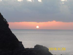 西伊豆に沈む夕日