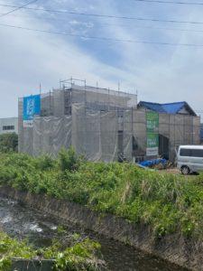「川辺のステキな美容室&2世帯住宅」上棟しました